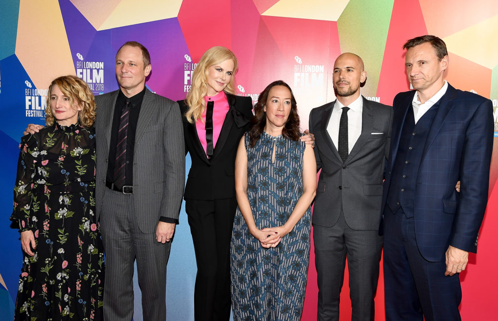 "LONDON, ENGLAND - OCTOBER 14:  (L-R) Festival director Tricia Tuttle, Phil Hay, Nicole Kidman, Karyn Kusama, Fred Berger and Lionsgate CEO Zygi Kamasa attend the European Premiere ""Destroyer"" at the 62nd BFI London Film Festival on October 14, 2018 in London, England.  (Photo by Jeff Spicer/Jeff Spicer/Getty Images for BFI)"