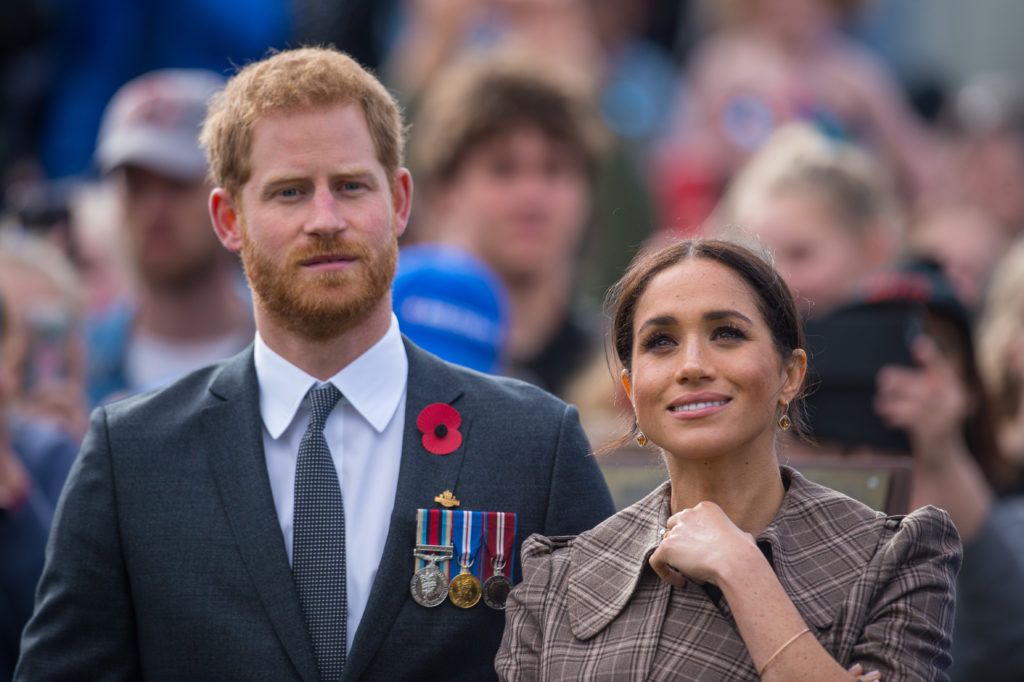 WELLINGTON, NEW ZEALAND - OCTOBER 28:  Prince Harry, Duke of Sussex and Meghan, Duchess of Sussex visit the newly unveiled UK war memorial and Pukeahu National War Memorial Park on October 28, 2018 in Wellington, New Zealand. The Duke and Duchess of Sussex are on their official 16-day Autumn tour visiting cities in Australia, Fiji, Tonga and New Zealand.  (Photo by Dominic Lipinski - Pool /Getty Images)