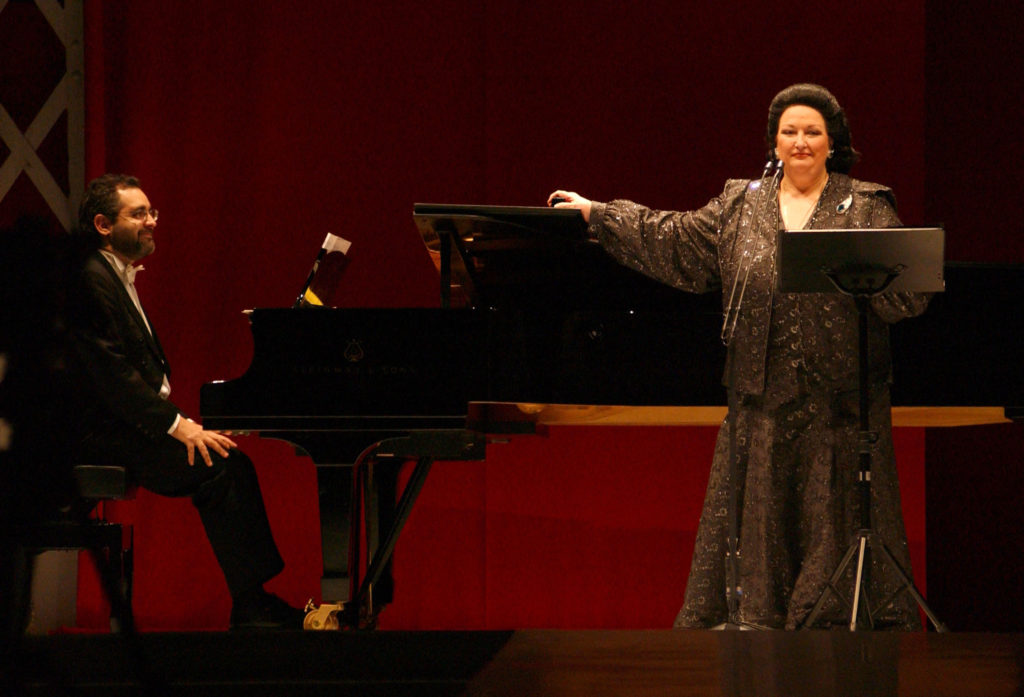 MADRID, SPAIN - FEBRUARY 14:  Spanish opera singer Montserrat Caballe sings during the Benefit Gala for the Theodora Fundation at Palacio de Cristal de Arganzuela February 14, 2003 in Madrid, Spain. (Photo by Carlos Alvarez/Getty Images)