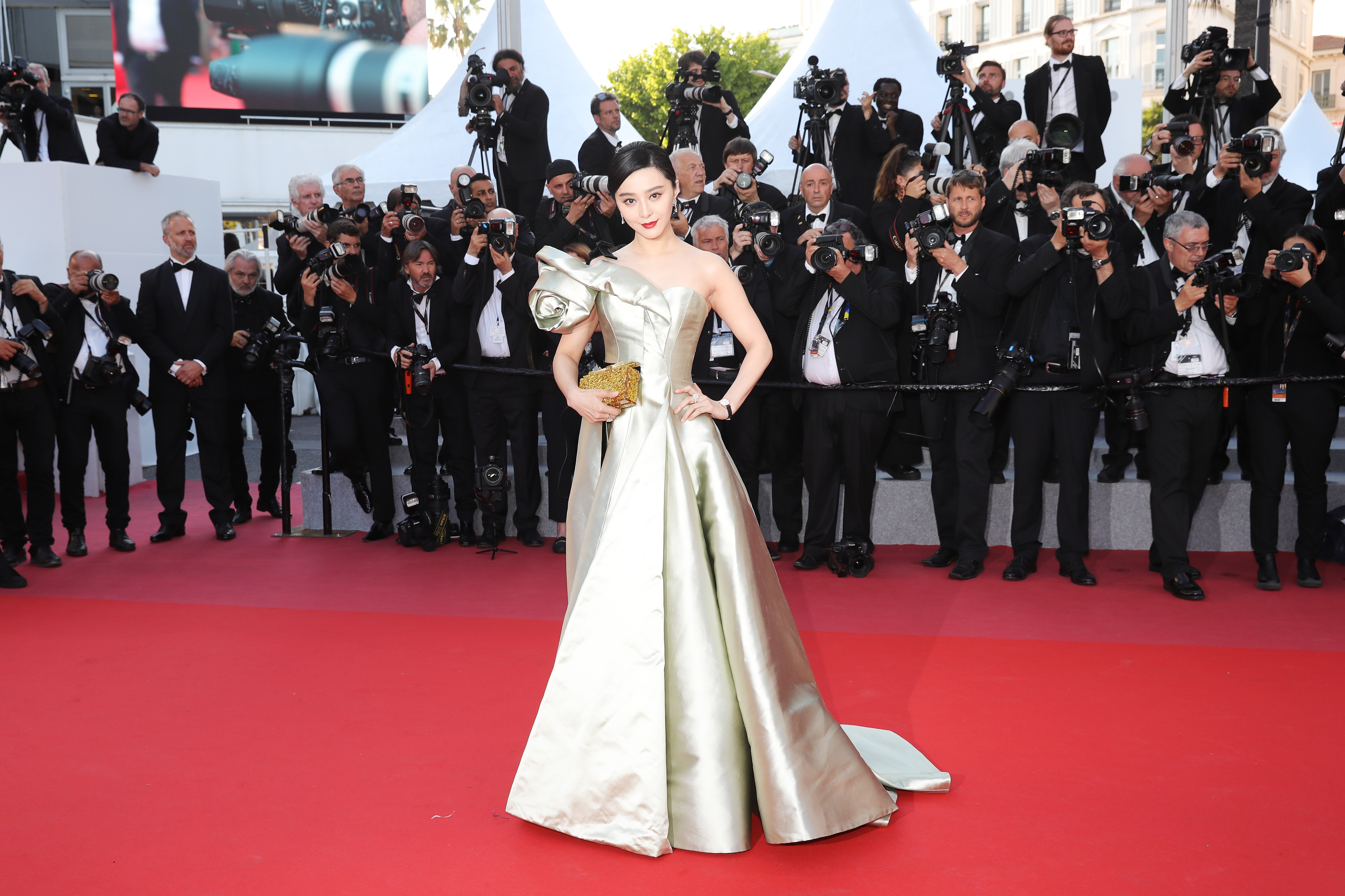"CANNES, FRANCE - MAY 11:  Actress Fan Bingbing attends the screening of ""Ash Is The Purest White (Jiang Hu Er Nv)"" during the 71st annual Cannes Film Festival at Palais des Festivals on May 11, 2018 in Cannes, France.  (Photo by Vittorio Zunino Celotto/Getty Images for Kering)"