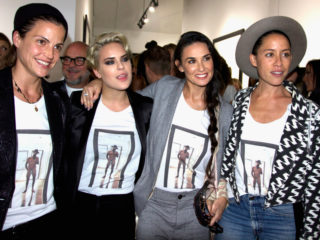 WEST HOLLYWOOD, CA - OCTOBER 23: (L-R) Stylist Masha Mandzuka, actress Tallulah Willis, actress Demi Moore and stylist Anda Gentile attend the Brian Bowen Smith WILDLIFE show hosted by Casamigos Tequila at De Re Gallery on October 23, 2014 in West Hollywood, California. (Photo by Jason Merritt/Getty Images for De Re Gallery)