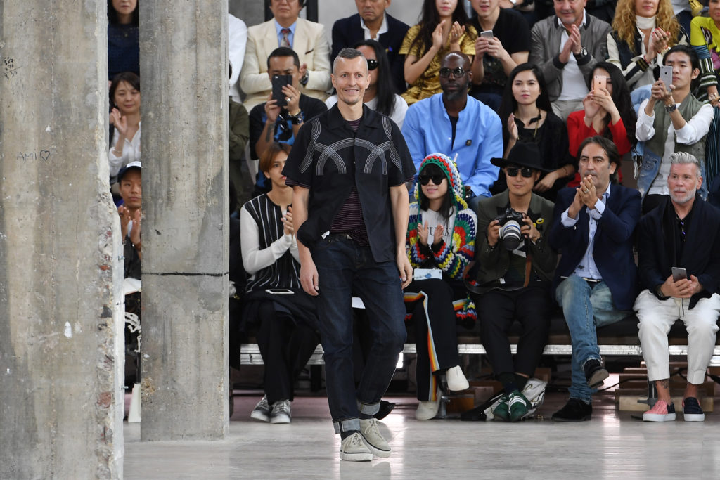 PARIS, FRANCE - JUNE 26:  Designer Lucas Ossendrijver walks the runway during the Lanvin Menswear Spring/Summer 2017 show as part of Paris Fashion Week on June 26, 2016 in Paris, France.  (Photo by Pascal Le Segretain/Getty Images)