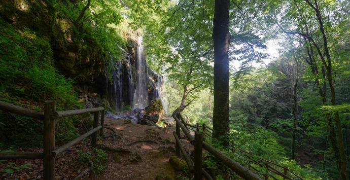 Waterfall Varovitets in Bulgaria