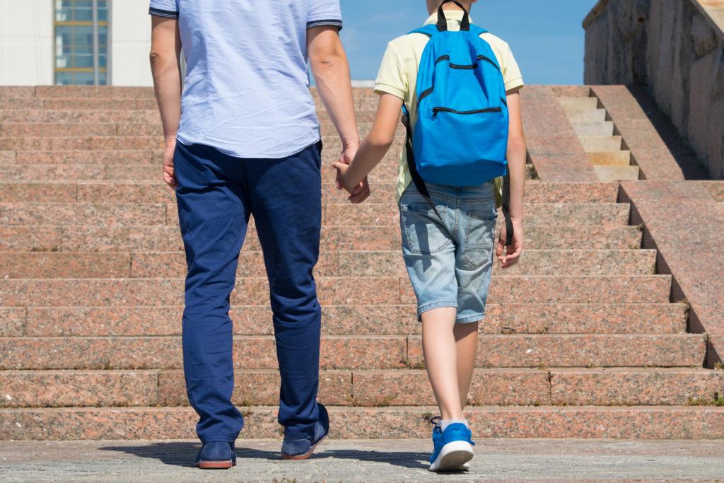 Баща и син, училище
