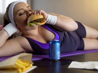 жена, ядене, тренировка