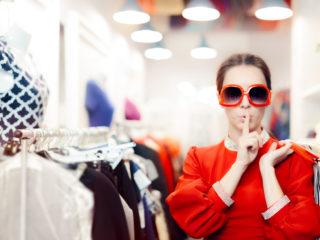 пазаруване, мол, жена, дрехи