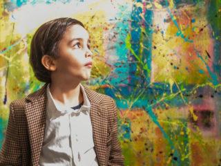 Микаил Акар - седемгодишният художник от Кьолн, на изложба в Дюселдорф
