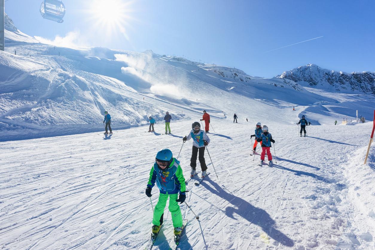 деца, каране на ски, дете