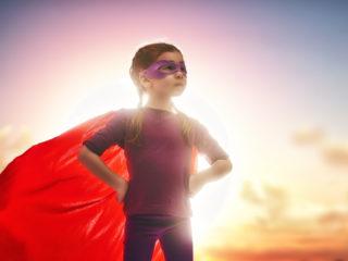 малко момиче, суперсила, момиче, дете, супермен