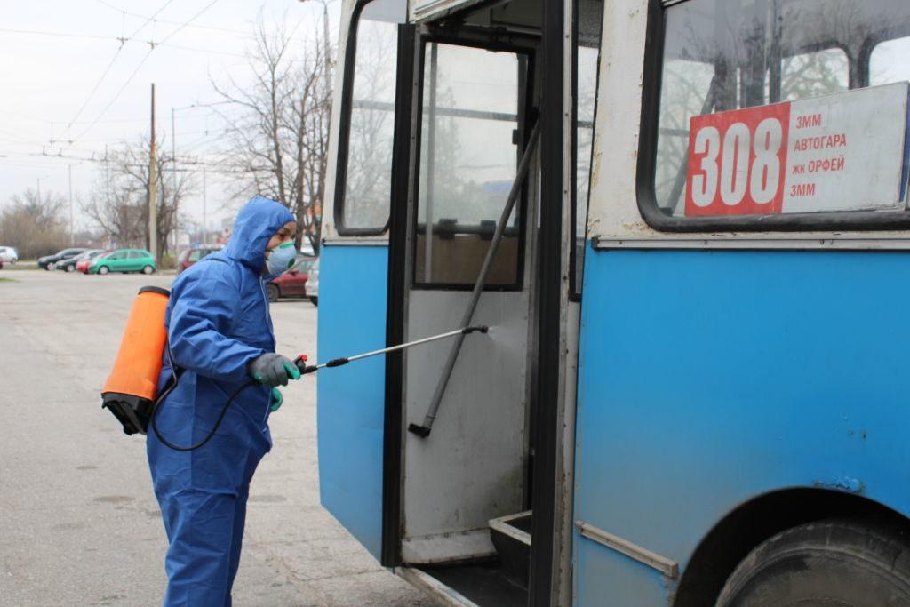 Превенция от коронавирус в градския транспорт в София, България, 10 март, 2020