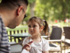Angry Father with astonished daughter
