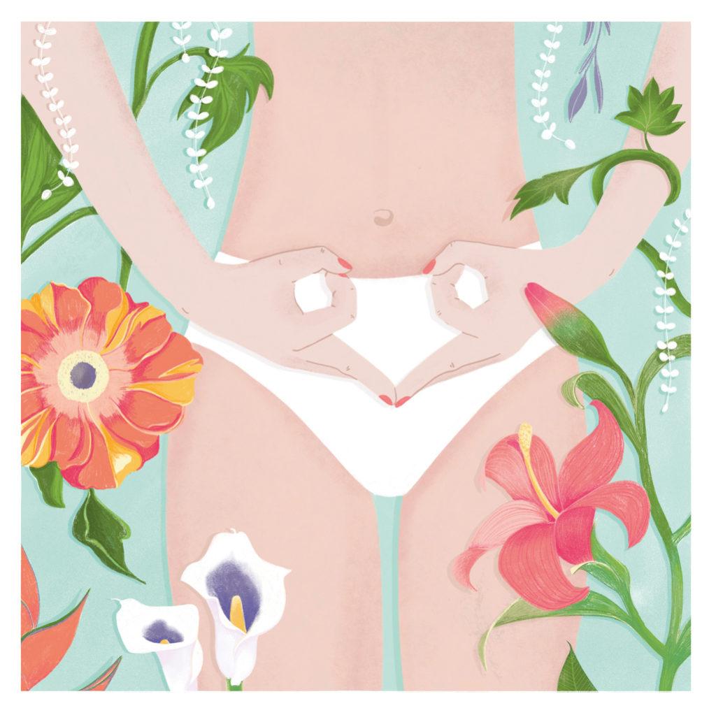 Beautiful way of depicting a women's uterus, womb and fertility