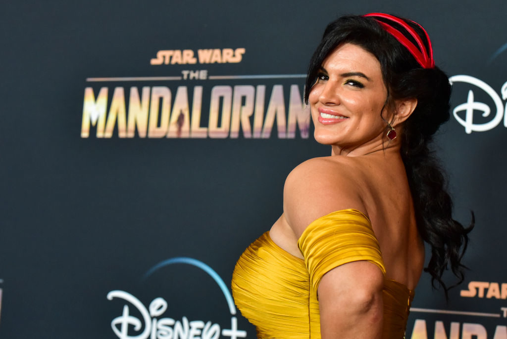"LOS ANGELES, CALIFORNIA - NOVEMBER 13: Gina Carano attends the premiere of Disney+'s ""The Mandalorian"" at El Capitan Theatre on November 13, 2019 in Los Angeles, California. (Photo by Rodin Eckenroth/FilmMagic)"