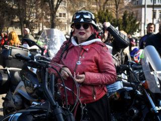 Bulgarian rock singer Milena during the opening of motorcycle season in downtown Sofia, Bulgaria 10 April 2021 (Photo by Georgi Paleykov/NurPhoto via Getty Images)