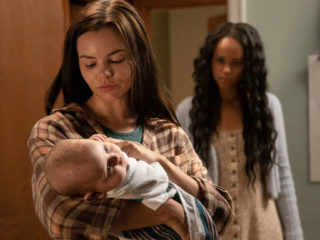"""SIREN - """"Life and Death"""" - Ben and Maddie help Ryn guide her surrogate through a life-threatening delivery. Helen and Xander deliver a hybrid corpse to Beth at The Ranch. Xander faces danger on the high seas during a ride-along with the Bristol Cove water patrol. This episode of """"Siren"""" airs Thursday, April 16, at 10:00p.m. ET/PT on Freeform. (Jack Rowand via Getty Images) ELINE POWELL, MILLAN TESFAZGI"""