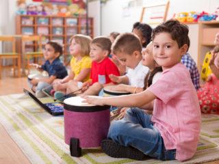 Preschool child in classroom.